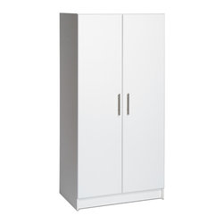 """Prepac - Prepac Elite 32 Inch Storage Cabinet in White - With four more inches in depth added to the standard 12, the Elite 32"""" Storage Cabinet offers you even more storage potential for your laundry room, workshop or garage. It has one fixed and two adjustable shelves, allowing you to fit a wide variety of items.  Use it alone or add the optional 32"""" Stackable Wall Cabinet on top for a total of 89 vertical inches of storage. What's included: Storage Cabinet (1)."""