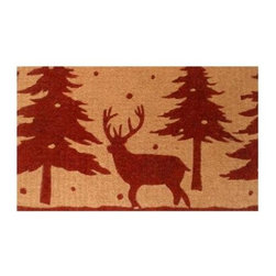 Momentum Mats - Momentum Mats Christmas Reindeer 29 in. x 17 in. Coir and Vinyl Door Mat 12101 - Shop for Holiday Decorations at The Home Depot. Made of natural coir and vinyl-backed for stability and to prevent movement. Our beautiful Christmas reindeer door mat makes an attractive and durable addition to any porch or patio area. Wonderful for the holidays and all winter long.