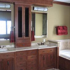 Craftsman Bathroom by Abode Design Solutions