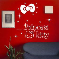 Kids Room Wall Decals - Princess Kitty Kids Wall Decals