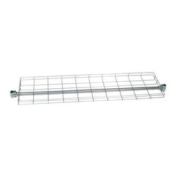 Top Shelf for Heavy Duty Z-Rack - Easily add extra storage to your favorite heavy duty Z-Rack with the wire top shelf by Quality Fabricators. The wire mesh top shelf can hold up to 100 pounds evenly distributed. The top shelf easily attaches to any Heavy Duty Z-Rack with a 63 inch length. The shelf measures 56.5 inches long 15 inches wide and has a 2-inch lip around it.About Quality FabricatorsQuality Fabricators is dedicated to providing the best quality garment racks and accessory products to buyers all over the world. Strength quality and rapid delivery are the hallmarks of Quality Fabricators and their American-made garment racks.