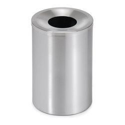 Blomus - Casa Stainless Steel Small Waste Bin - Round in shape. Made of stainless steel. 1-Year manufacturer's defect warranty. 10 in. Dia. x 15 in. H