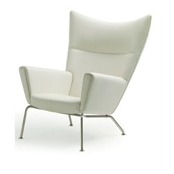 Nuevo - Jakob Lounge Chair (Grey Fabric) - Fabric: Grey FabricBrushed stainless steel legs. CFS foam. Wood base. Armrest Height: 24.5 - 20 in.. Seat Depth: 18.25 in.. Seat Height: 15.5 in.. 35.25 in. W x 39 in. D x 41.25 in. H (28.3 lbs.)