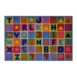 Fun Rugs - Numbers and Letters Kids Rug - Your child's room is a natural extension of them. Add these innovative designs from LA Rug to spruce up any child's decor.