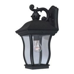 """Designers Fountain - Designers Fountain 2701-BK 1 Light 7.5"""" Cast Aluminum Cast Wall Lantern from the - Features:"""