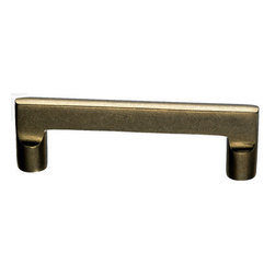 Top Knobs - Top Knobs Aspen Flat Sided Cabinet Pull 4 in. (c-c) - Top Knobs Aspen Flat Sided Pull 4 in. (c-c) | Cabinet Hardware