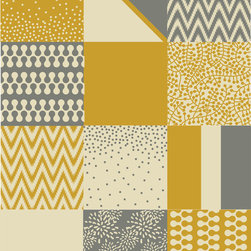 "The Lovely Wall Co - Margo Organic Prints - Removable Wall Paper - 12""x12"" wall tiles - Margo Organic Prints - 12x12 Wall Tiles"