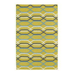 Kaleen - Kaleen Glam GLA01 28 Yellow Area Rug - 2 ft 6 in x 8 ft - The Glam collection puts the fab in fabulous! No matter if your decorating style is simplistic casual living or Hollywood chic, this collection has something for everyone! New and innovative techniques for a flatweave rug, this collection features beautiful ombre colorations and trendy geometric prints. Each rug is handmade in India of 100% wool and is 100% reversible for years of enjoyment and durability.
