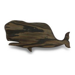 Zeckos - Wooden Whale Silhouette Dark Stained Decorative Wall Hanging - This wonderful whale wall hanging beautifully complements coastal, beach and nautical decor It features a dark stained whale silhouette made from layers of wood pieces, then finely sanded to a smooth finish. It measures 22.5 inches long, 10 inches high and 1/4 inch deep (57 X 25 X 1 cm), and easily mounts to the wall using the attached hanger on the back. This piece looks great in bathrooms, bedrooms, on patios and porches, or in restaurants and bars, and it makes a great gift for a whale watching friend sure to be enjoyed