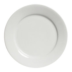 Tuxton - DuraTux 16 x 1 1/2 Round Plate Porcelain White - Case of 4 - DuraTux offers the widest selection of ceramic ovenware and accessory items in the industry. Our products are designed to handle the demands of any fastpaced environment  without breaking your budget. As with our dinnerware products all our ovenware items are fully microwavesafe, ovenproof, and dishwasherfriendly. With a large assortment of plates, platters, and bowls our Serving Pieces add to the presentation of any tabletop.