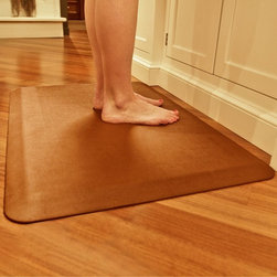 Wellness Mats - Wellness Mats Motif PML32WMR Linen Anti Fatigue Mat - PML32WMRBLK - Shop for Safety Supplies from Hayneedle.com! Take a load off your feet with the Wellness Mats Motif PML32WMR Linen Anti Fatigue Mat. The perfect complement to any kitchen the Linen door mat features a rich solid-colored design. The polyurethane anti-fatigue mat is ergonomically engineered and medically proven to provide comfort and support while you stand. The door mat is designed to last as it is puncture- and heat-resistant and the edges will never curl. It also has a no-trip beveled edge. Plus the anti-microbial mat is easy to wipe clean. Available in your choice of color. Dimensions: 36L x 24W x 0.75H inches.