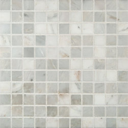 "Marbleville - Arabescato Carrara 1"" x 1"" Honed Marble Mosaic in 12"" x 12"" Sheet - Premium Grade Arabescato Carrara 1"" x 1"" Honed Finish Mesh-Mounted is a splendid Tile to add to your decor. Its aesthetically pleasing look can add great value to any ambience. This Mosaic Tile is made from selected natural stone material. The tile is manufactured to high standard, each tile is hand selected to ensure quality. It is perfect for any interior projects such as kitchen backsplash, bathroom flooring, shower surround, dining room, entryway, corridor, balcony, spa, pool, etc."
