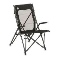 Coleman - Coleman ComfortSmart Suspension Chair - Coleman ComfortSmart Suspension Chair is perfect for outdoor use including camping and hunting applications. Features a 300-pound weight capacity with flexible bungee suspension system and sturdy steel framing.
