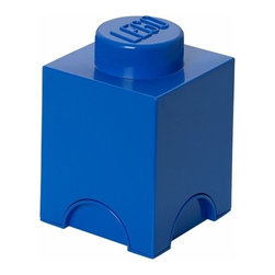 LEGO - LEGO MOVIE Storage Brick 1, Bright Blue - Let the children tidy up with at smile. Our LEGO Movie Storage Brick 1 in bright blue color is oversized LEGO brick that is designed to stack, just like the original LEGO bricks. Decorate, play, build, form and have fun with the bricks or keep your toys sorted using them as storage boxes.