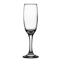 Hospitality Glass - 8.25H x 2T x 2.5B Imperial 7 oz Champagne Flute 24 Ct - Imperial 7 oz Flute