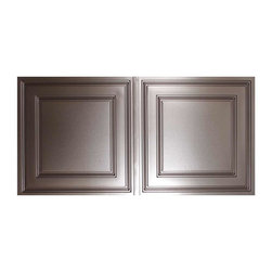 """Cambridge Ceiling Tile 2x12 - Faux Pewter - Perfect for both commercial and residential applications, these tiles are made from thick .03"""" vinyl plastic. Their lightweight yet durable construction make these tiles easy to install. Waterproof, these tiles are washable and won't stain due to humidity or mildew. A perfect choice for anyone wanting to add that designer touch at an amazing price."""