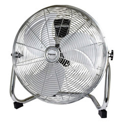Impress - Impress IM-778F High Velocity Floor Fan - Perfect for when you need to cool down a large area quickly,this high velocity floor fan features a durable chrome frame and aluminum blades. You'll love this fan's ability to ventilate and circulate air in any setting for a fantastic cooling solution.