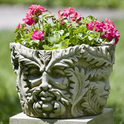 Campania International Sylvan Cast Stone Planter - About Campania InternationalEstablished in 1984, Campania International's reputation has been built on quality original products and service. Originally selling terra cotta planters, Campania soon began to research and develop the design and manufacture of cast stone garden planters and ornaments. Campania is also an importer and wholesaler of garden products, including polyethylene, terra cotta, glazed pottery, cast iron, and fiberglass planters as well as classic garden structures, fountains, and cast resin statuary.Campania Cast Stone: The ProcessThe creation of Campania's cast stone pieces begins and ends by hand. From the creation of an original design, making of a mold, pouring the cast stone, application of the patina to the final packing of an order, the process is both technical and artistic. As many as 30 pairs of hands are involved in the creation of each Campania piece in a labor intensive 15 step process.The process begins either with the creation of an original copyrighted design by Campania's artisans or an antique original. Antique originals will often require some restoration work, which is also done in-house by expert craftsmen. Campania's mold making department will then begin a multi-step process to create a production mold which will properly replicate the detail and texture of the original piece. Depending on its size and complexity, a mold can take as long as three months to complete. Campania creates in excess of 700 molds per year.After a mold is completed, it is moved to the production area where a team individually hand pours the liquid cast stone mixture into the mold and employs special techniques to remove air bubbles. Campania carefully monitors the PSI of every piece. PSI (pounds per square inch) measures the strength of every piece to ensure durability. The PSI of Campania pieces is currently engineered at approximately 7500 for optimum strength. Each piece is air-dried and then de-molded by hand. After an internal quality check, pieces are sent to a finishing department where seams are ground and any air holes caused by the pouring process are filled and smoothed. Pieces are then placed on a pallet for stocking in the warehouse.All Campania pieces are produced and stocked in natural cast stone. When a customer's order is placed, pieces are pulled and unless a piece is requested in natural cast stone, it is finished in a unique patinas. All patinas are applied by hand in a multi-step process; some patinas require three separate color applications. A finisher's skill in applying the patina and wiping away any excess to highlight detail requires not only technical skill, but also true artistic sensibility. Every Campania piece becomes a unique and original work of garden art as a result.After the patina is dry, the piece is then quality inspected. All pieces of a customer's order are batched and checked for completeness. A two-person packing team will then pack the order by hand into gaylord boxes on pallets. The packing material used is excelsior, a natural wood product that has no chemical additives and may be recycled as display material, repacking customer orders, mulch,or even bedding for animals. This exhaustive process ensures that Campania will remain a popular and beloved choice when it comes to garden decor.Please note this product does not ship to Pennsylvania.