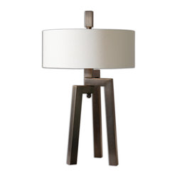 Uttermost Mondovi Modern Table Lamp Dance To A Different Drum In Your Decor A Hand Forged