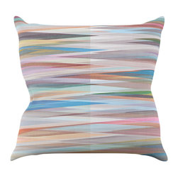 """Kess InHouse - Mareike Boehmer """"Nordic Combination II"""" Rainbow Abstract Throw Pillow (16"""" x 16"""" - Rest among the art you love. Transform your hang out room into a hip gallery, that's also comfortable. With this pillow you can create an environment that reflects your unique style. It's amazing what a throw pillow can do to complete a room. (Kess InHouse is not responsible for pillow fighting that may occur as the result of creative stimulation)."""