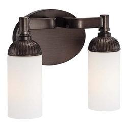 Metropolitan - Metropolitan N2602-590 Industrial 2 Light Industrial Bronze Bath Light - Features:
