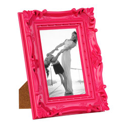 Karolina Ornate Pink Picture Frame, 5x7 - Each frame measures 7.25L x 1.75W x 10H in.