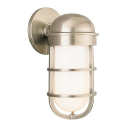 Hudson Valley - 3001-AN Groton Wall Sconce, Antique Nickel - Nautical Wall Sconce in Antique Nickel from the Groton Collection by Hudson Valley.