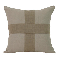 Zentique - Cross Pillow - A chunky crisscross makes a simple yet beautiful design in this classic linen throw pillow. Pair it with the collection's coordinating pillows atop your neutral sofa or bedspread for a simple, elegant decoration that always has your back.
