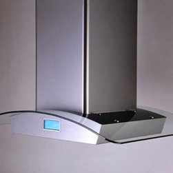 """Kobe - IS2442GSF-1 42"""" Glass Island Mount Range Hood With LCD Touch Screen  Included Du - The IS24GSF1 glass island mount range hood comes with a four speed 760 CFM blower providing enough ventilation to remove any cooking odors from your kitchen The two bright 12 volt 20W halogen light bulb provides ample lighting for your cooktop ensuri..."""