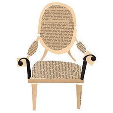 """Eclectic Artwork """"Louis Chair"""" Collage by Denise Fiedler"""