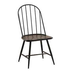 Powell - Powell Sechrest Dining Side Chair - Dark Brown - Set of 4 - PO3010 - Shop for Dining Chairs from Hayneedle.com! With their sleek and simple metal spindle backs and wooden seats the Powell Sechrest Dining Side Chair - Dark Brown - Set of 4 lend a timeless look with an industrial edge. A black metal finish combined with the deep brown wooden hue creates a modern high-end feel to tradional design sure to compliment any kitchen or dining space. More About Powell FurnitureBased in Culver City Calif. the Powell company designs imports and distributes occasional dining accent and youth furniture across all style categories. Since 1968 Powell has grown to become one of the most recognized names in the home furniture industry. From sturdy safe childrens furniture to elegant bedroom and other home collections Powell continues to develop new and exciting designs for homes around the globe.