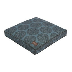 Jax & Bones - Jax & Bones Premium Cotton Blends Pillow Bed Milan Teal Medium - The Jax and Bones Premium Cotton Blends pillow beds come in lively designs and are made from the highest quality material. This means that these beds can last a long time and are extremely soft and luxurious for your pet. This entire range of beds can be machine washed easily to maintain the same new quality.