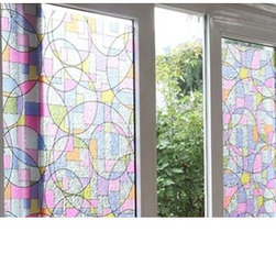 Self-Adhesive Colorful Privacy Static Window Film - Instruction:
