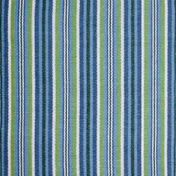 Hook & Loom Rug Company - Alford Rug, Blue/Green/White, 2'x3' - Very eco-friendly rug, hand-woven with yarns spun from 100% recycled fiber.  Color comes from the original textiles, so no dyes are used in the making of this rug.  Made in India.