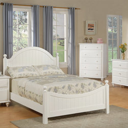 Girls cottage white bed - This Cottage style Full Bed crafted from select Hardwoods pressed into White Wood Veneers. This Full sized Bed set is designed to be practical in use and to beautify your home decor. This set includes one nightstand, Dresser , Mirror and Chest which can be sold separately. This Bedroom set will sure to bring back anyone's bedroom the elegance and beauty it once had.