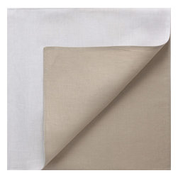 Chilewich - Chilewich Reversible Linen Napkin - White/Flax - Reversible napkins can double your options ... and the drama in setting the table. But please don't think of them as two-faced… these colors are entirely complimentary and play well with just about all your other table linens.