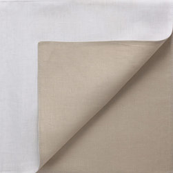 Chilewich - Chilewich Reversible Linen Napkins, White/Flax, Set of 4 - Reversible napkins can double your options ... and the drama in setting the table. But please don't think of them as two-faced… these colors are entirely complimentary and play well with just about all your other table linens.