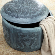 Traditional Ottomans And Cubes by Horchow