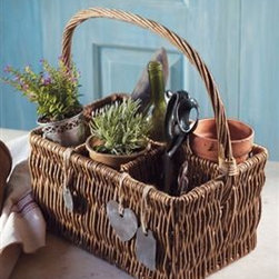 6 Compartment wine Basket - This cute wine basket can also add some texture and personality to your home office or kitchen. Use it  to organize other items in its six wine-bottle sized slots, and tote it around with ease.