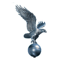 Whitehall Products LLC - Medium Flagpole Eagle - Pewter - • Color: Pewter/Silver