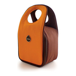 Milkdot - Stöh Lunch Tote, Tangerine - Stöh is a modern yet practical solution for a lunch bag that combines clean and simple design with features perfect for stowing your favorite food, drink and utensils and cool enough for the whole family to carry too. Sleek and timeless, Stöh is for all-ages. Lightweight and folds flat for easy storage after use.