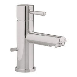 American Standard - Serin Single Handle Low-Arc Bathroom Faucet with Speed Connect Drain - American Standard 2064.101.295 Serin Single Handle Low-Arc Bathroom Faucet with Speed Connect Drain in Satin Nickel .