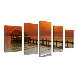 Ready2HangArt - Ready2HangArt Bruce Bain 'Belize Storm' 5-pieceSet Canvas Wall Art - This beautiful 5-piece canvas wall art is from photographer Bruce Bain. His work employs elements of imagination to capture a variety of subjects. It is fully finished, arriving ready to hang on the wall of your choice.