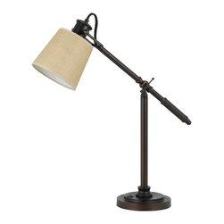 Cal Lighting - Cal Lighting BO-2204 Table 60 W Rockwall Metal Adj. Desk Lamp - 60W Rockwall Metal Adj. Desk Lamp