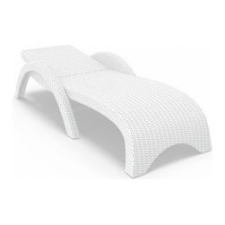 Compamia ISP860-WH Miami Resin Wickerlook Chaise Lounge - White - Set of 2 - Lean back on your very own cloud and work on that tan when your personal cloud is the Compamia ISP860-WH Miami Resin Wickerlook Chaise Lounge - White - Set of 2. This durable lounger has a body of weather-resistant resin that's wrapped in an open weave of resin wicker. Resin wicker is ideal for poolside or patio furniture because of its ability to resist the effects of moisture, UV-exposure and general wear-and-tear. This lounger is easy to clean, and they're even stackable when you need a little extra space.