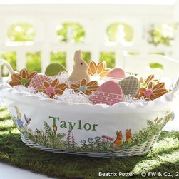 Peter Rabbit™ Treat Basket & Liner - There are leafy greens and bright blooms on this Peter Rabbit Basket from Pottery Barn Kids.