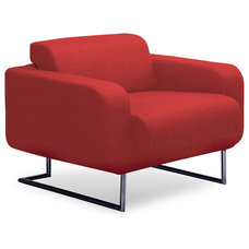 modern armchairs Camden Red Lounge Chair