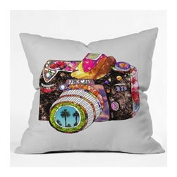 """DENY Designs - Bianca Green Picture This Throw Pillow - Wanna transform a serious room into a fun, inviting space? Looking to complete a room full of solids with a unique print? Need to add a pop of color to your dull, lackluster space? Accomplish all of the above with one simple, yet powerful home accessory we like to call the DENY Throw Pillow! Features: -Bianca Green collection. -Top and back color: Print. -Material: Woven polyester. -Sealed closure. -Spot treatment with mild detergent. -Made in the USA. -Closure: Concealed zipper with bun insert. -Small dimensions: 16"""" H x 16"""" W x 4"""" D, 3 lbs. -Medium dimensions: 18"""" H x 18"""" W x 5"""" D, 3 lbs. -Large dimensions: 20"""" H x 20"""" W x 6"""" D, 3 lbs."""