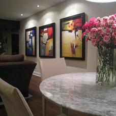 Modern Family Room by EDYTA & CO. INTERIOR DESIGN
