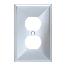 Liberty Hardware - Liberty Hardware 135875 Beverly WP Collection 3.15 Inch Switch Plate - A simple change can make a huge impact on the look and feel of any room. Change out your old wall plates and give any room a brand new feel. Experience the look of a quality Liberty Hardware wall plate. Width - 3.15 Inch, Height - 4.9 Inch, Projection - 0.3 Inch, Finish - Polished Chrome, Weight - 0.13 Lbs.